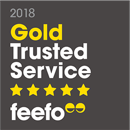 Feefo Gold Trusted Service logo for Employsure